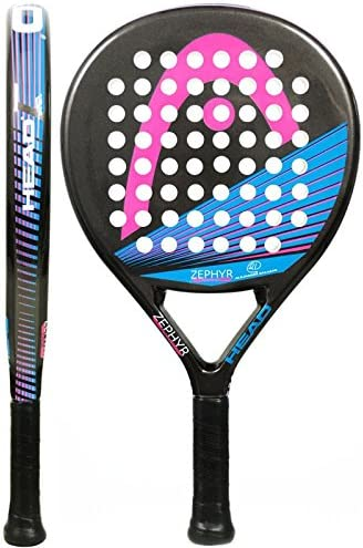 Head Zephyr Junior CB - Pala de pádel para niña, Color Negro/Rosa ...