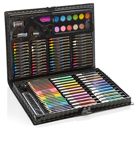 Artworx 118 Piece Art Set For Kids – Junior Artists Colouring & Painting Case