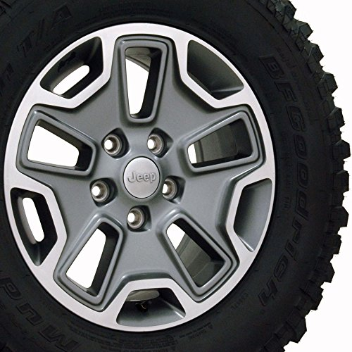 Jeep Wrangler OEM Wheels and BF Goodrich Tires 1XA50TRMAA - 17x7.5 OEM JK Rubicon Jeep Wheel w/BF Goodrich Mud Terrain TA Tires, Hollander 9118C - SET of 5