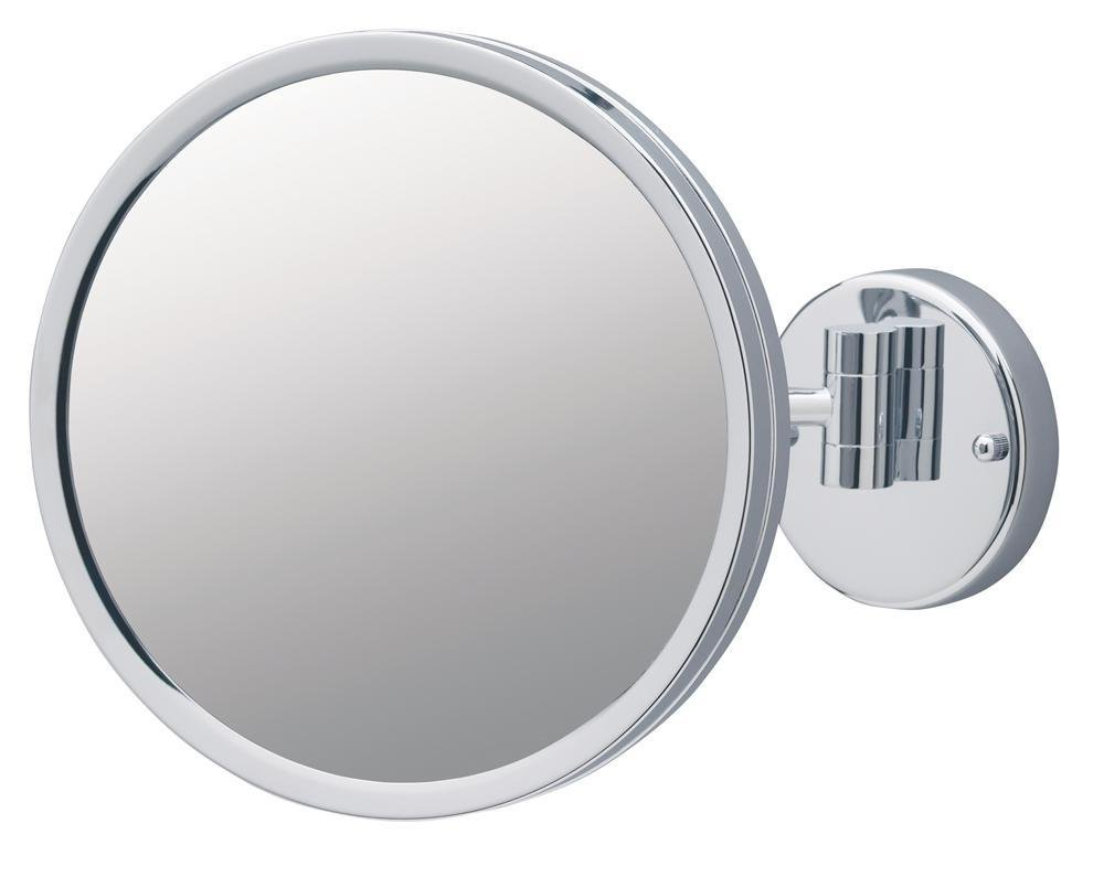 Jerdon JD12CF 9-Inch Adjustable Wall Mount Makeup Mirror with 3x Magnification, Chrome Finish