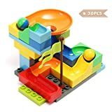 FUNTOK Marble Run Railway Construction Toys Star Travel Game 36pcs Building Blocks Toys for Child