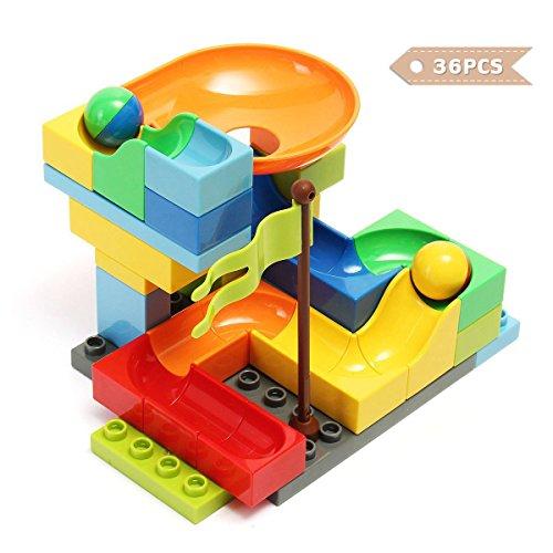FUNTOK Marble Run Railway Construction Toys Star Travel Game 36pcs Building Blocks Toys for Child by FUNTOK