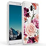 Huawei Mate 9 Case,Mate 9 Case with Flower,LUOLNH Slim Shockproof Clear Floral Pattern Soft Flexible TPU Back Cover for Huawei Mate 9 (Purple)