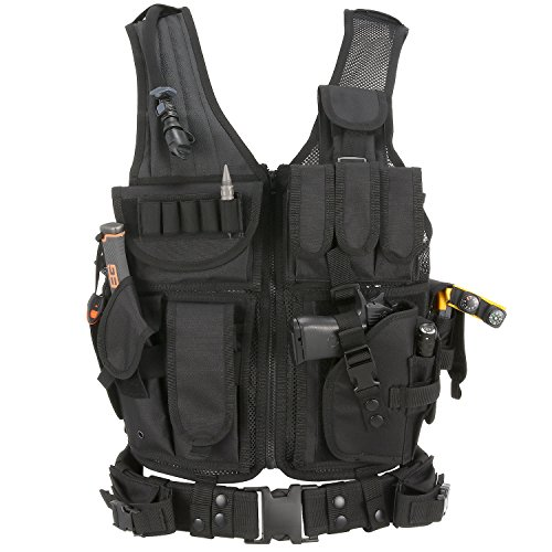 Barbarians Tactical Airsoft Vest Molle Military Paintball Vest Cross draw...