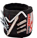 Magnetic Wristband for Holding Tools and Screws - with Strong Magnets, Lightweight, Adjustable Wristband to Hold Drill Bits and Nails - Convenient Solution for Professional and Home Use by Go Handyman