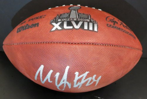 Marshawn Lynch Autographed Seattle Seahawks Official Super Bowl 42 Football ()