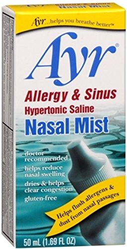 Ayr Nasal Mist Allergy and Sinus 50 mL (Pack of 4)