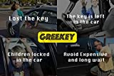 Greekey Car Essentials Kit with Long Reach Grabber, Multi-Function Angle Hook, Air Wedge, Knob Grabber, 2 Non Marring Wedges, Pry Tool, Thin bar, Professional Tools for Car Door and Home Door-Window