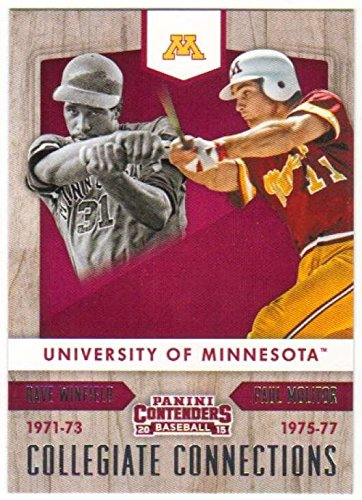 2015 Panini Contenders Collegiate Connections #4 Dave Winfield//Paul Molitor Minnesota Golden Gophers