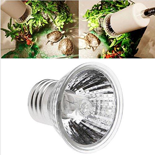 Kocome 220V 75W Reptile Tortoise Heating Lamp Full Spectrum UVA UVB Sunlamp Basking Pet