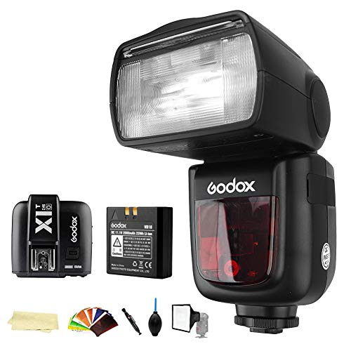 Godox V860II-O TTL 2.4G High Speed Sync 1/8000s GN60 Li-ion Battery Camera Flash Speedlite Light + Godox X1T-O Wireless Remote Flash Trigger Transmitter Compatible for Olympus Panasonic Camera