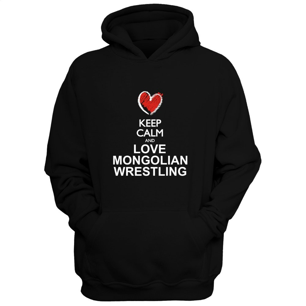 Idakoos Keep Calm and Love Mongolian Wrestling chalk Style - Sports - Hoodie
