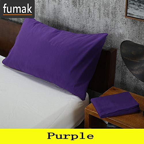 fumak Silk Pillowcase - 1PC Solid Color Bed Pillowcases Standard Pillow Case Pillow Cover Bedding Bedroom 17 Colors 47x74cm (6)