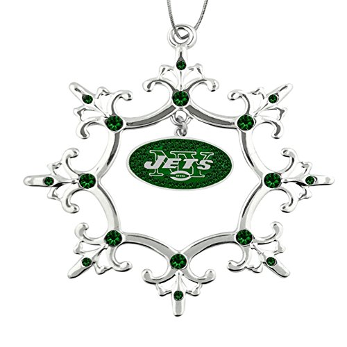 Final Touch Gifts New York Jets Rhinestone Christmas Ornament