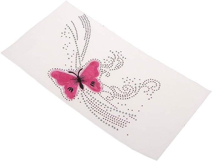 Bügelbild Schmetterling Aufbügler Bügelstrass Embleme Strassapplikationen