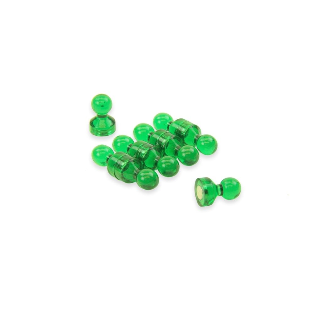 Magnet Expert® Small Green Acrylic Push Pin Magnet - 11mm dia x 17mm tall (20 packs of 10) Magnet Expert® F4M11-GN-20