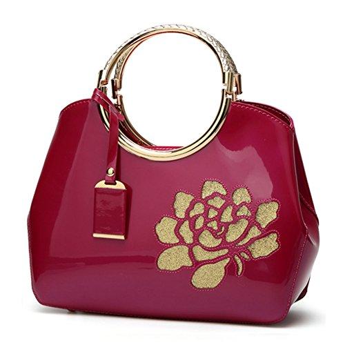 di borsa a Borse Rosa Borsa tracolla Rossa Donna Borsa del sacchetto GAVERIL Spalla rosa Mano Tote borsa a rossa Borse 6vxw1