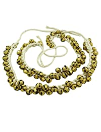 Banithani Handmade Goldtone Ghungroo Anklet Belly Dance Traditional Indian Jewelry