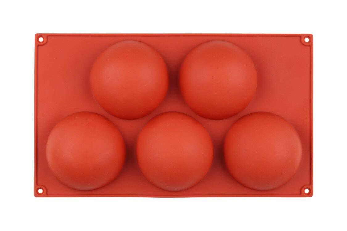 24 Agujeros Forma de Chocolate semicircular con 1 esp/átula Libre. 5 Agujeros 15 Agujeros semicircular semic/írculo Mlying Molde de Silicona con Forma de semiesfera semic/írculo 6 Agujeros