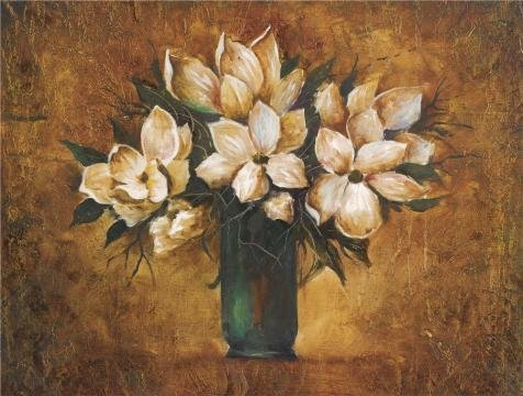 Oil Painting 'White Flowers In The Vase', 20 x 26 inch / 51 x 67 cm , on High Definition HD canvas prints is for Gifts And Game Room, Gym And Living Room Decoration, onreviews