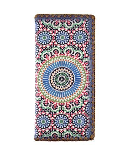 Mlavi Moroccan pattern print vegan/faux leather large flat wallet