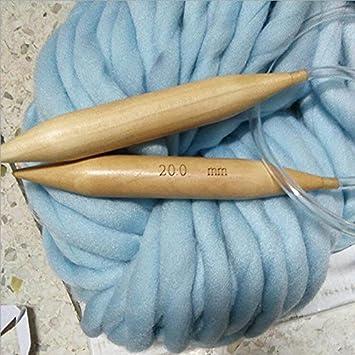 best sale promo code cheap price Grosses aiguilles à tricoter circulaires en bois pour fil 20 ...