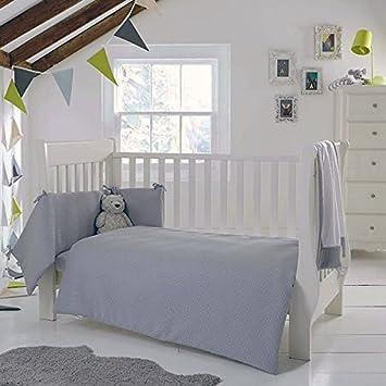 8adcabad9c342 Clair de Lune Waffle 2 Piece Cot Cot Bed Quilt   Bumper Bedding Set ...