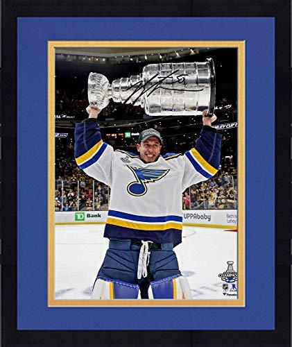 Framed Jordan Binnington St. Louis Blues 2019 Stanley Cup Champions Autographed 16