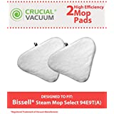 Crucial Vacuum 2 Bissell Steam Mop Select Mop Pads Fit Bissell Steam Mop Select Hard Surface Cleaner 94E9T(A), Compare Part # 76B2A