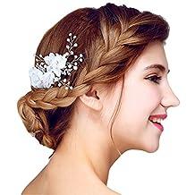 YAZILIND Headdress Beauty Women's Bridal Wedding Hair Comb Barrette Party Rhinestones Flower Alloy Women Hair Accessories