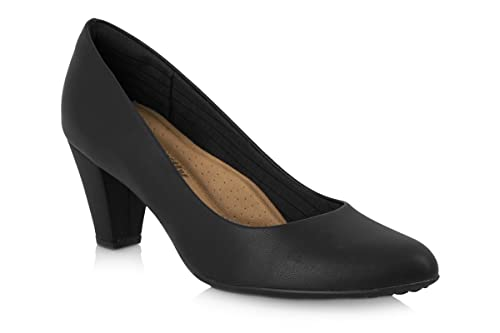 Piccadilly 700056 Black and Navy Blue High Heel Cabin Shoe/Crew Shoe With Padded Insole B00WQ0JFEO