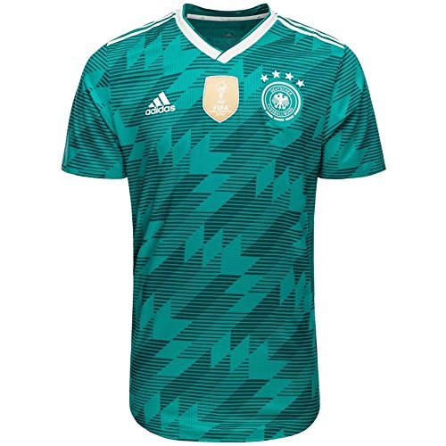Jersey Authentic (adidas Germany 2018-2019 Away Authentic Jersey- Teal Green L)