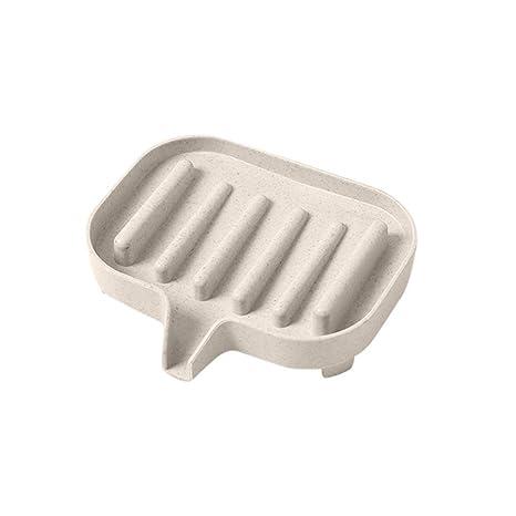 Plastic Soap Dish Box Holder Case Soap Storage Plate Drain Tray Bathroom Tool QL