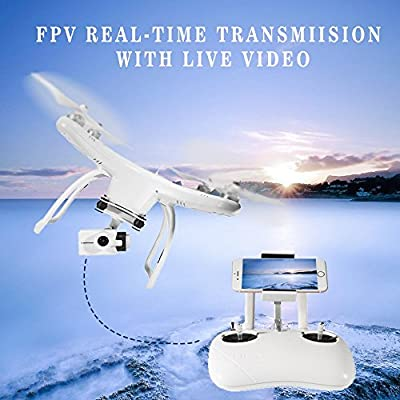 UPair One Plus Drone with 4K HD Panasonic Camera, GPS Live Video Quadcopter Gimbal, Mobile Version with Headless Mode/Altitude Hold/One Key Return/Automatic Low Power Return and Follow Me Function from G10