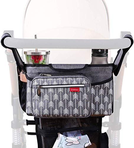 Baby Stroller Organizer Bag with Cup Holders Universal Lekebaby Stroller