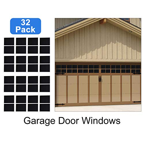 Homend 32-Pack Magnetic Panels for Metal Car Garage Door Decoration Fake Faux Windows(6.125