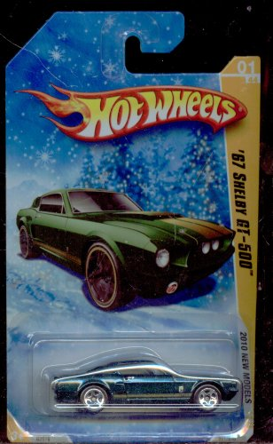 Hot Wheels 2010-001/240 NEW Models 01/44 '67 Shelby Gt-500 Snow Scene Series 1:64 - Shelby 1 Model Series