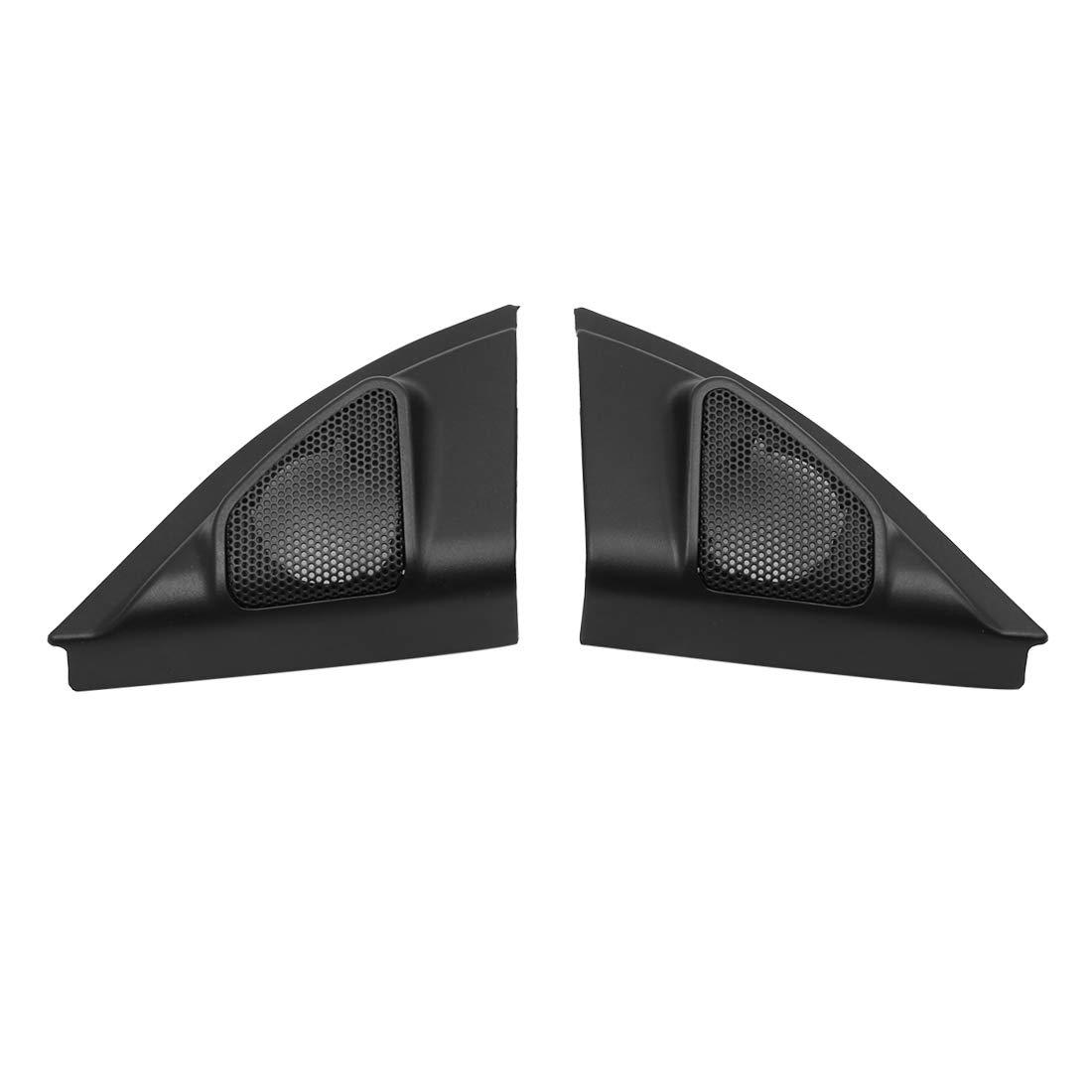 uxcell Pair Black Car Speaker Trim Cover Tweeter Protector for 13-14 Toyota Vios Yaris