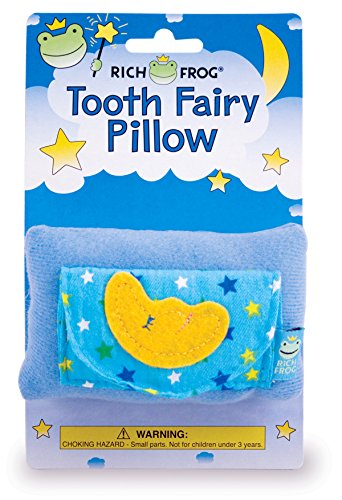 Rich Frog Moon Tooth Fairy Pillow and Tooth Keepsake, Blue - 4