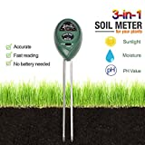 Soil Tester Kits 3-in-1 Soil Meter for MoistureSunlight and pH  acidity Meter Plant TesterEasy to Use and Fast Read No Battery needed