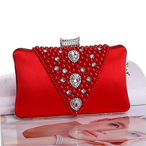 Honor Rojo Maybesky Banquete Bolsa Chica Rojo De Vestido color Dama Noche Cuentas Cena Embrague zURqz4T