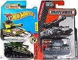 Tank Military set Hot Wheels Tankinator & Matchbox Tank Blockade Buster set in PROTECTIVE CASES