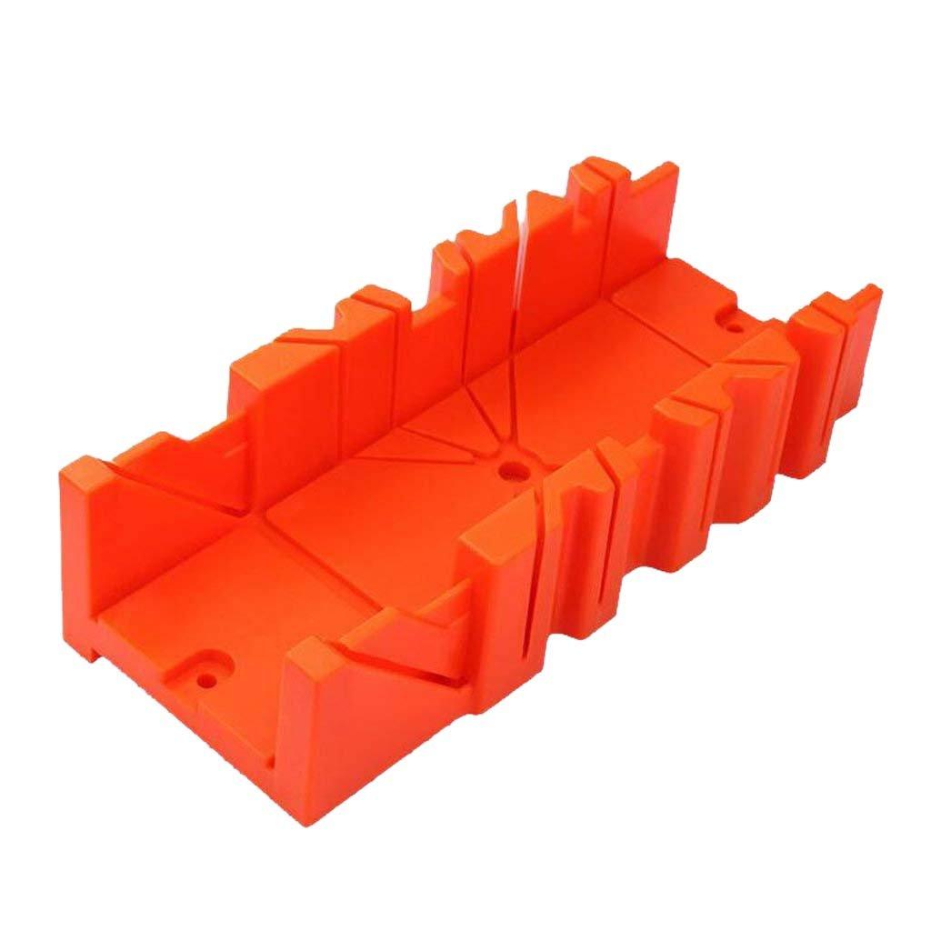 REFURBISHHOUSE Scie a onglets multifonctionnelle Boite Cabinet 0/22.5/45/90 Degre de scie Guide de menuiserie - Orange, 12 pouces