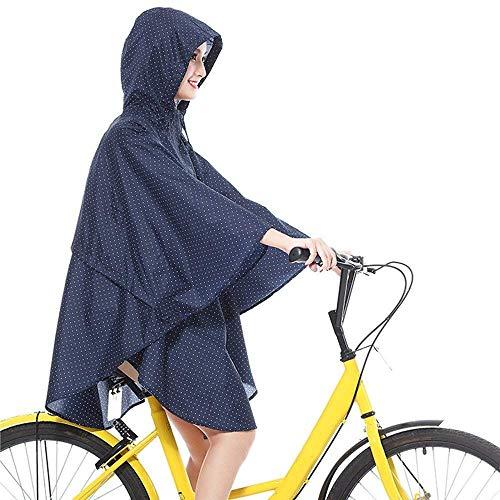 1 1 1 Rainwear Chic Donna Moda Raincoat Ragazza Blau Waterproof Poncho Poncho Poncho Poncho Bicycle Hooded Rain Raincoats Motorcycle Aw8Op