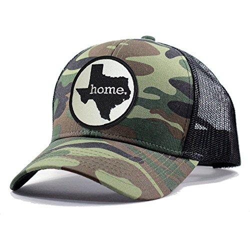 Homeland Tees Men's Texas Home State Army Camo Trucker Hat - - Camoflauge Black