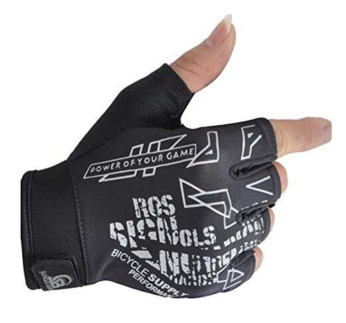 ふくろう寄稿者代数高品質の耐久性のある軽量フィットネスハーフグローブスポーツ自転車の手袋(M)
