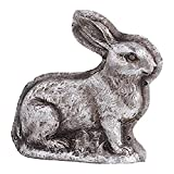 K&K Interiors 20288A Antique Silver Resin Embossed Bunny