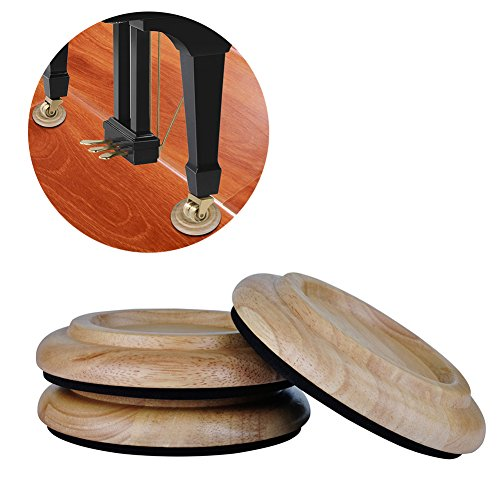 TOPCHANCES 3 Pack Piano Castor Cup for Tripod Grand Piano Caster Pads w/ EVA Anti-slip Mat Piano Leg Pad Size (PA-21 Orignal Color)