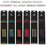 Aromatherapy Hosley's 240 Pack Assorted Highly Fragranced Incense Sticks - Dragon's Blood, Earth, Full Moon, Sensual Therapy, Spiritual, Wildberry. Infused with Essential Oils. O3