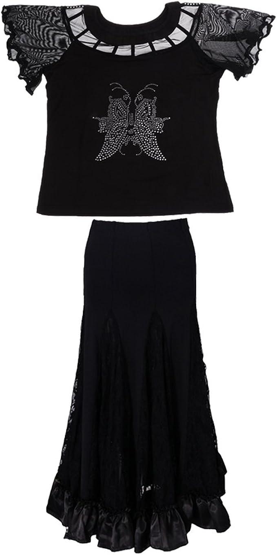 Homyl Falda de Tango Vestido de Flamenca Accesorios Ropa de ...